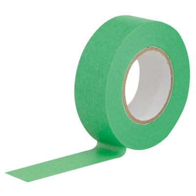 CARSYSTEM Slim Tape Green special masking tape 18 mm x 18 m